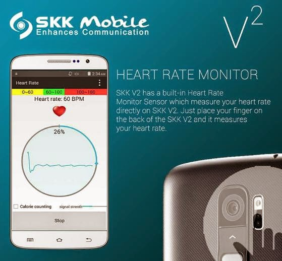 SKK Mobile V2 with Rear Key and Heart Rate Sensor for Php4,999