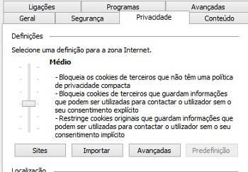 habilitar cookies internet explorer