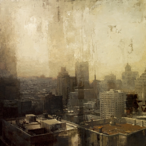 14-Before-The-Evening-Fog-Jeremy-Mann-Figurative-Painting-in-Cityscapes-Oil-Paintings-www-designstack-co