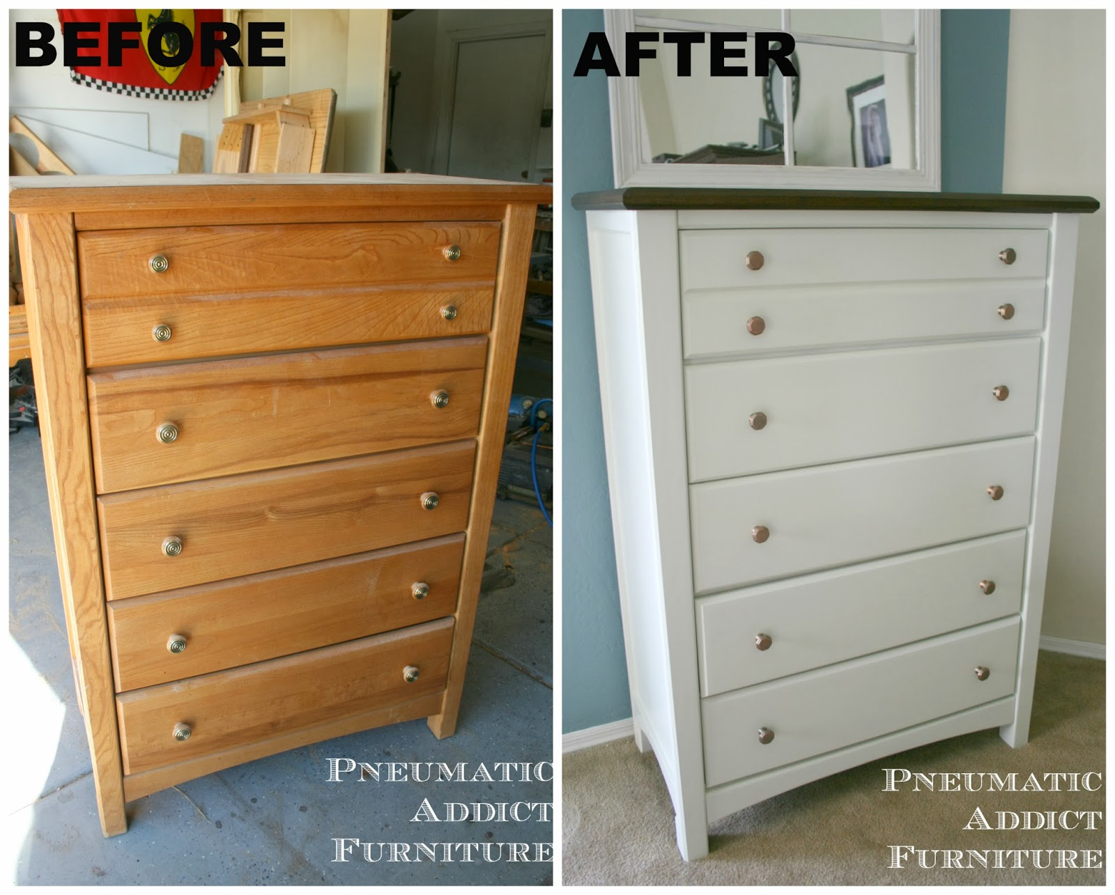 Pneumatic Addict Golden Oak Basset Dresser Make Over Sub Title The 90 39 S Are Awesome