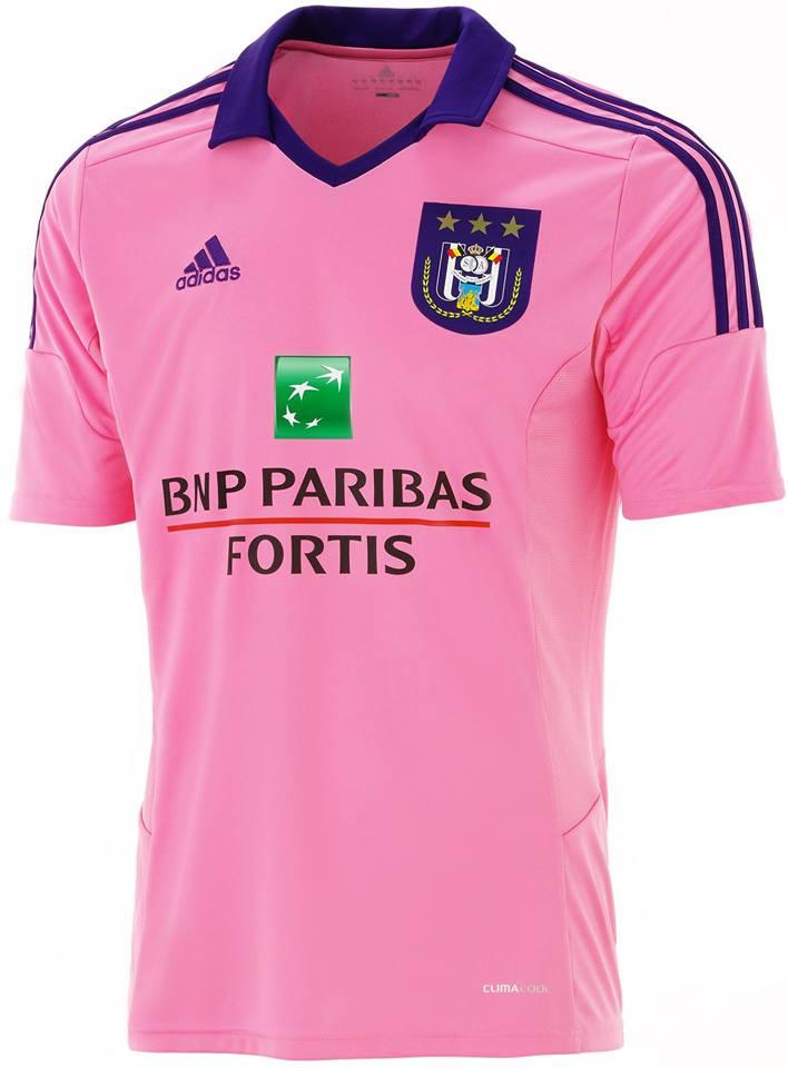 rsc anderlecht 14 15 away kit - Pink Home 2015