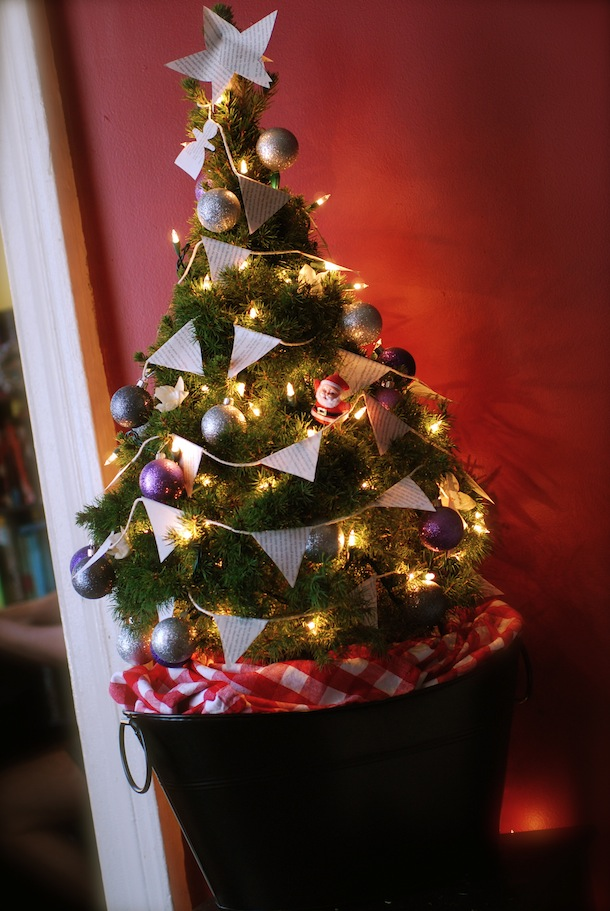 A Christmas tree is a decorated tree, usually an evergreen conifer such as spruce, pine, or fir or an artificial tree of similar appearance, associated with the celebration of Christmas.