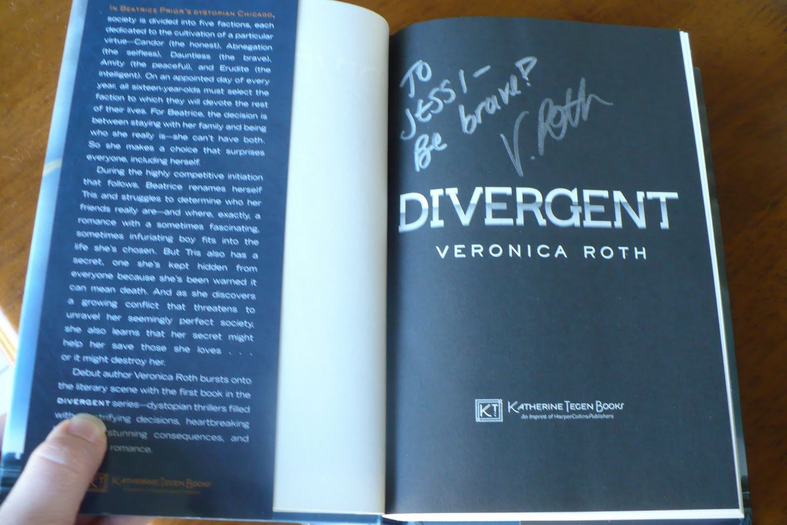 Divergent Book Back Cover Reading in the corner: ya book review ... Divergent Book Cover Back