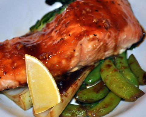 Tasty Asian style salmon