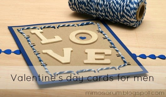 Tarjeta masculina para San Valentin. Valentine's day cards for men