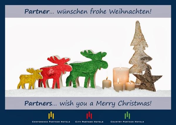 Partner wünschen Frohe Weihnachten