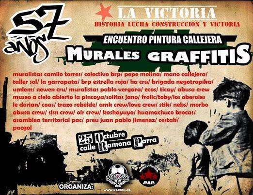 PAC: LA VICTORIA 57 AÑOS, ENCUENTRO DE PINTURA CALLEJERA, MURALES Y GRAFFITIS