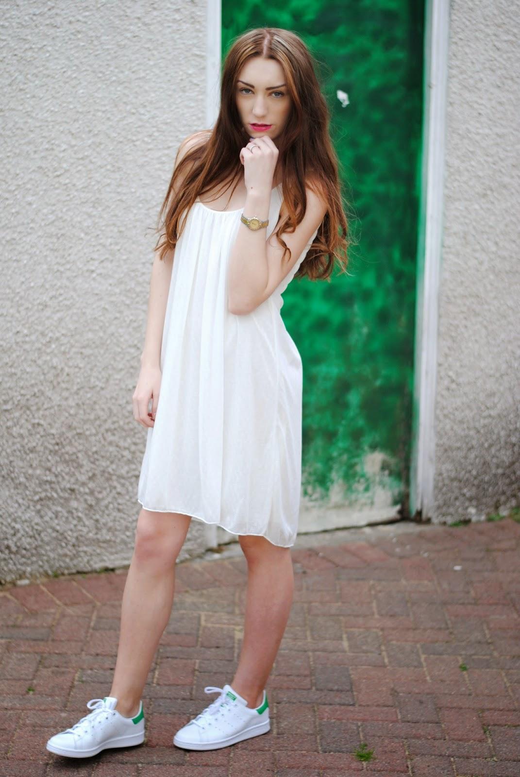 adidas stan smith with dress