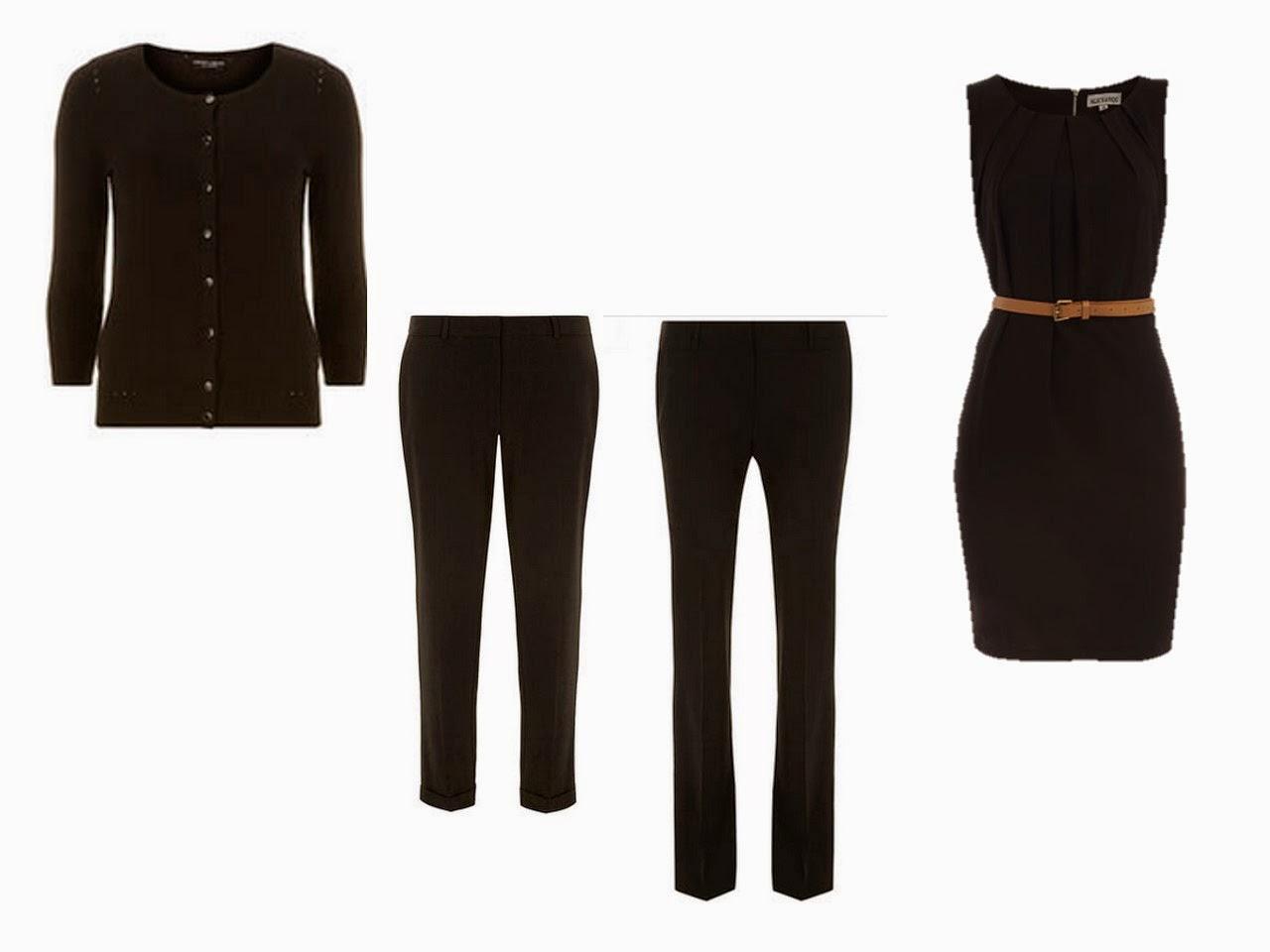 """4-piece """"suit equivalent"""": cardigan, capris, pants, dress"""