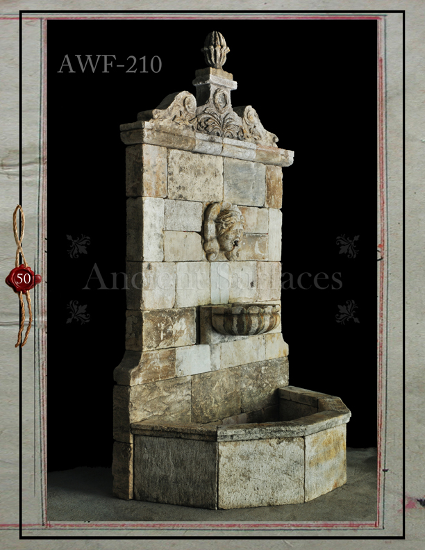 Vintage Stone Walls : Ancient surfaces antique stone wall fountains