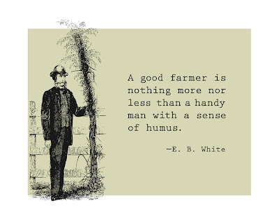 illustration of farmer next to a giant plant plus text