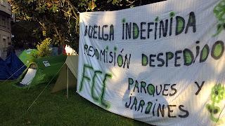 Zaragoza fin de la huelga en fcc parques y jardines for Sindicato jardineros