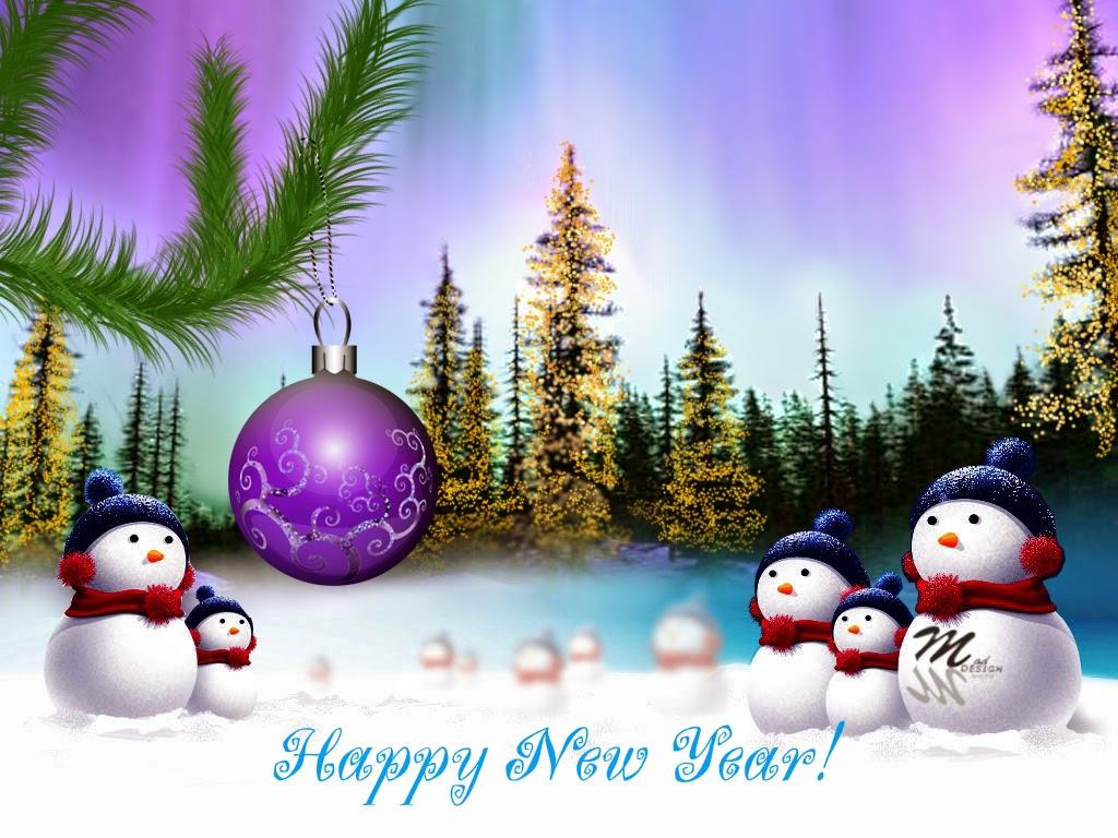 Kartu ucapan tahun baru terbaik