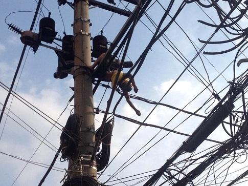 wag magnakaw ng cable ng koryente