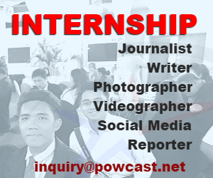 For Internship email inquiry@powcast.net