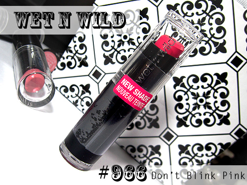 Wet n Wild Don't Blink Pink Lipstick Review