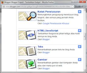 Add Gadget Blog