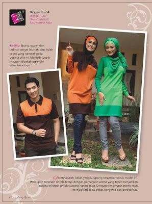 blouse zenitha rajut orange hijau ZN 54