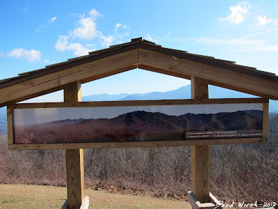 sign board of smokey mountains peaks