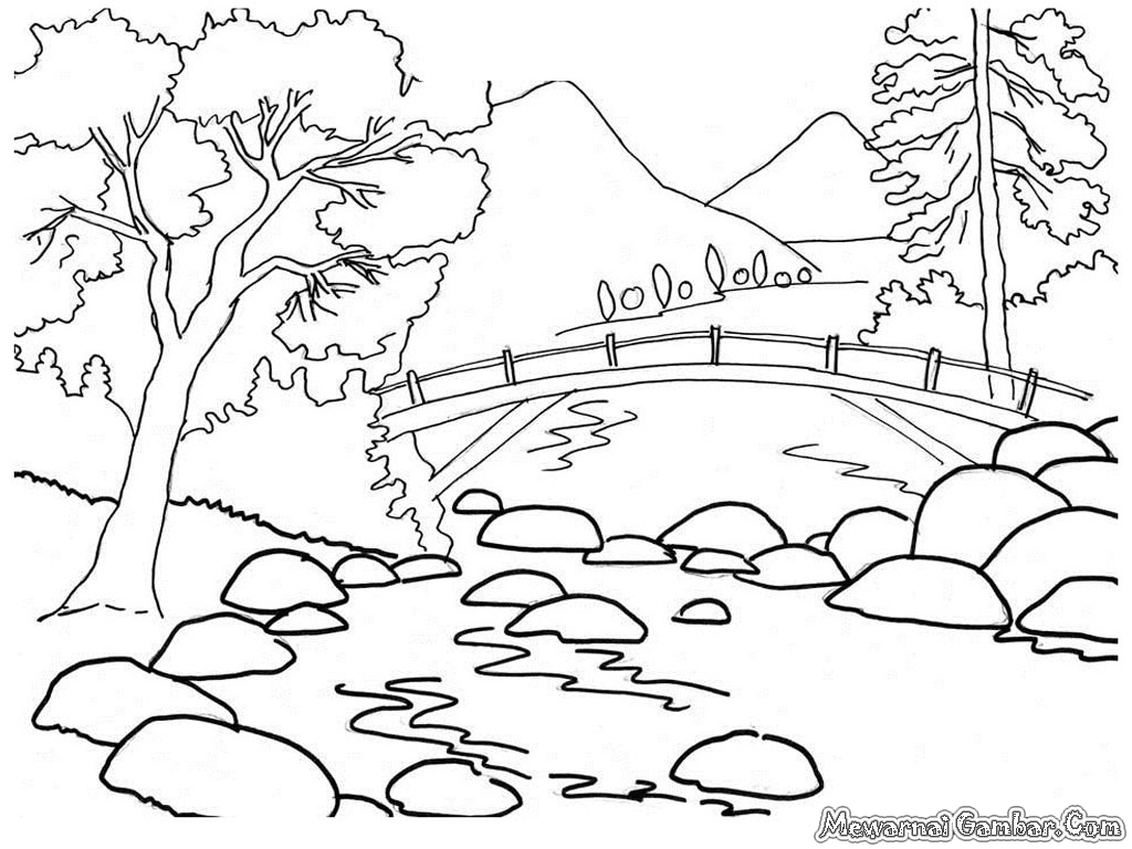 Landscape Nature Coloring Pages