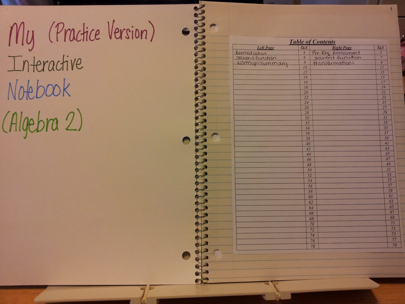 Teaching Statistics: Algebra 2 Interactive Notebook