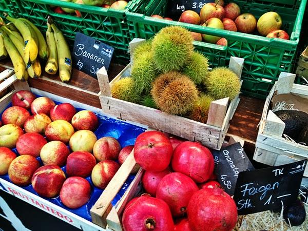 Viadukt Zürich Bogen Markt Obst Frucht Früchte Granatapfel