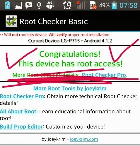 selamat hh anda sudah ter root jika sudah ter root