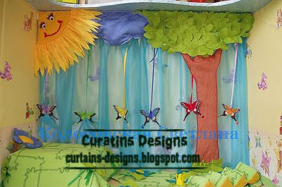 Cool curtain design for kids room windows cool kid for Kids room curtain ideas