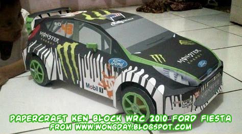 Ken Block Ford Papercraft images