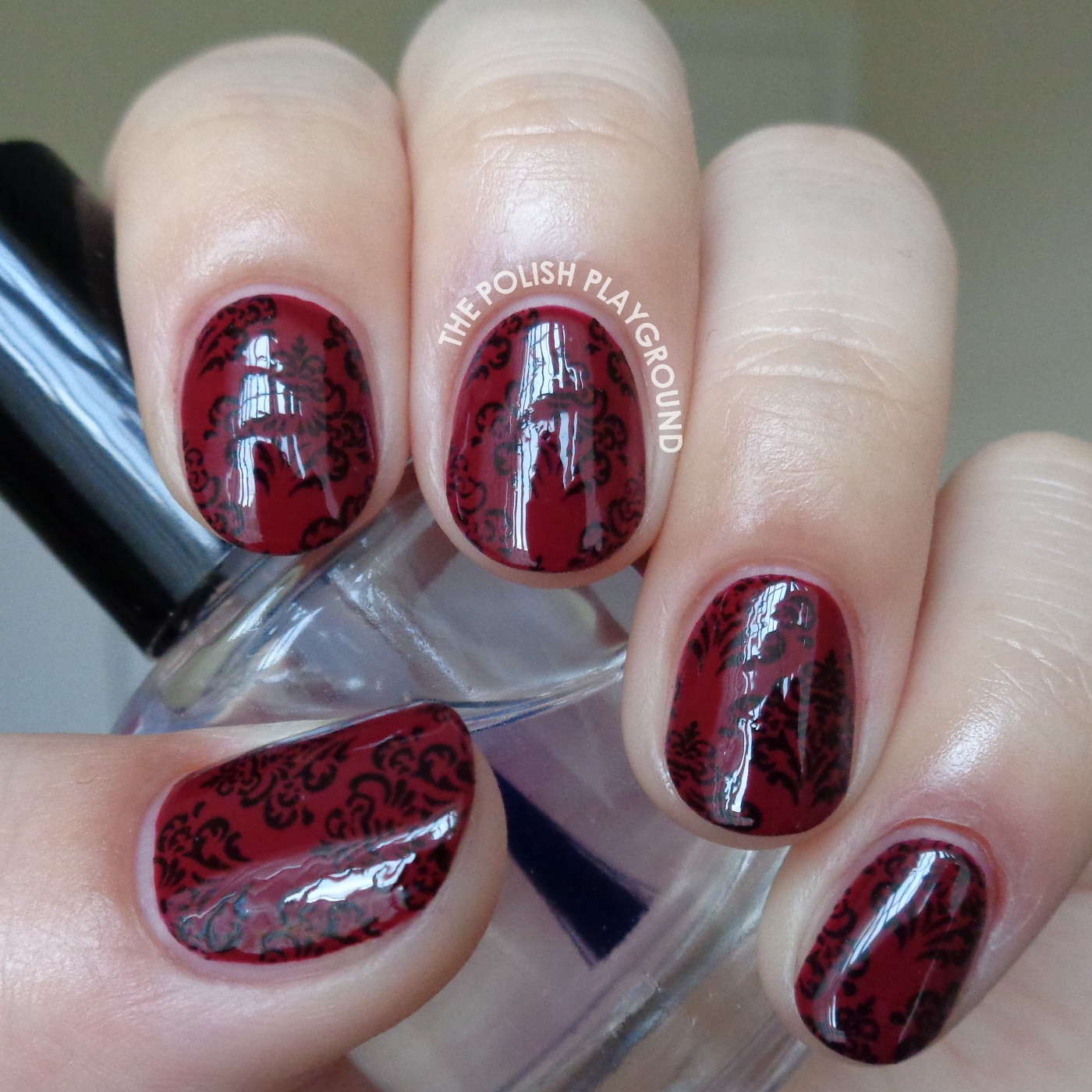 Burgundy nail art designs prinsesfo Image collections