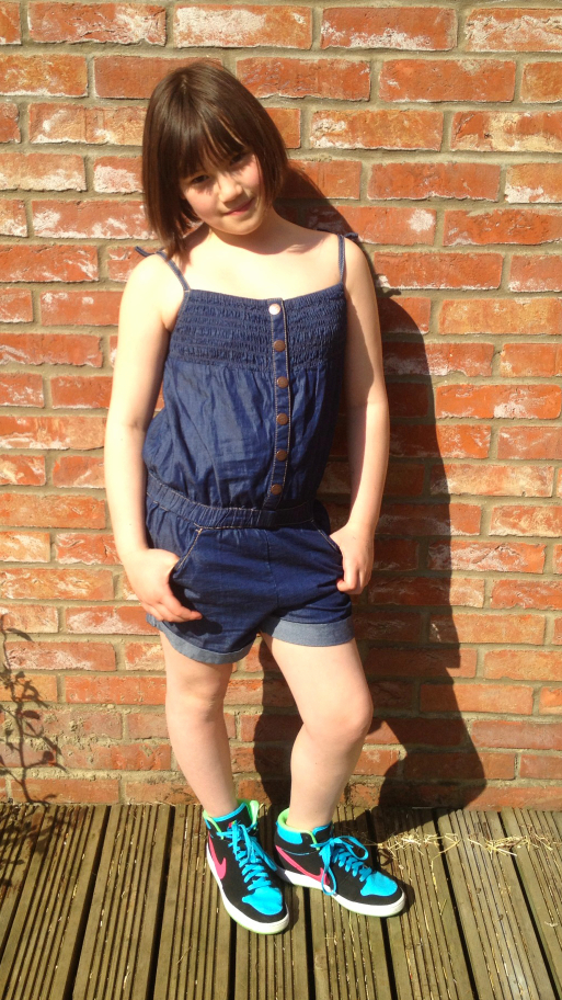 NEXT SS13 girls denim playsuit
