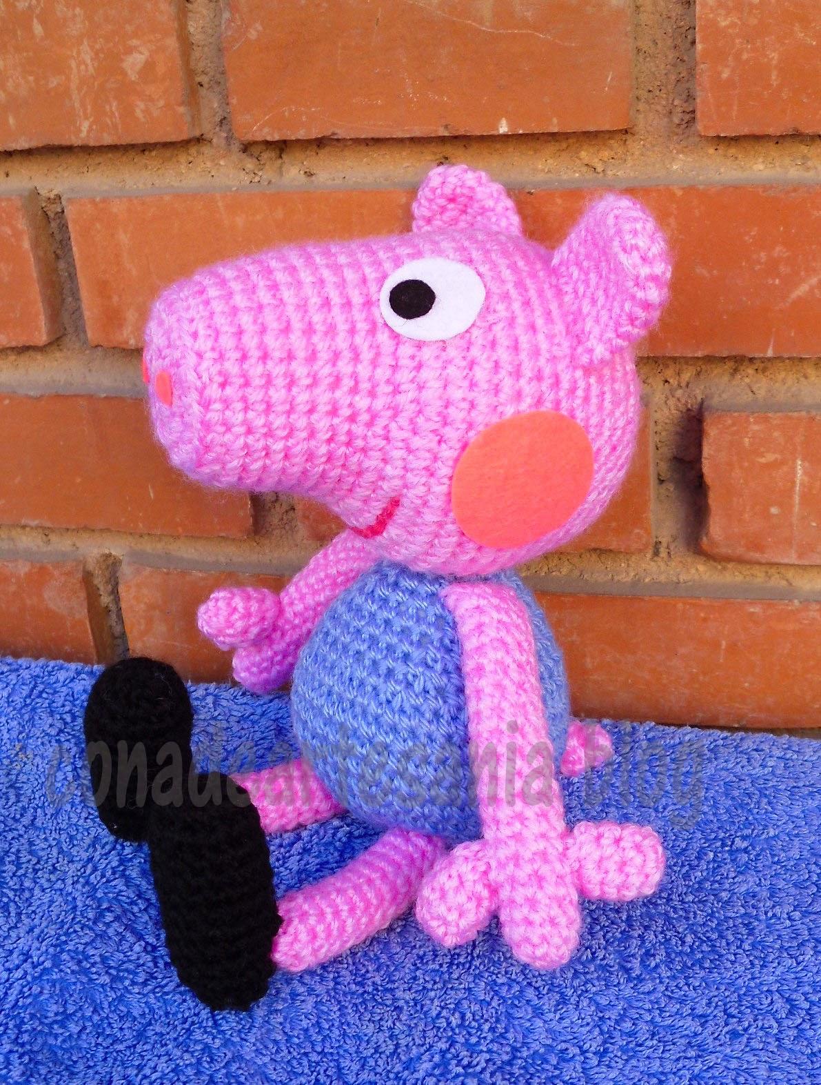 Patron Amigurumi Peppa Pig Grande : con A de artesan?a: George Pig amigurumi
