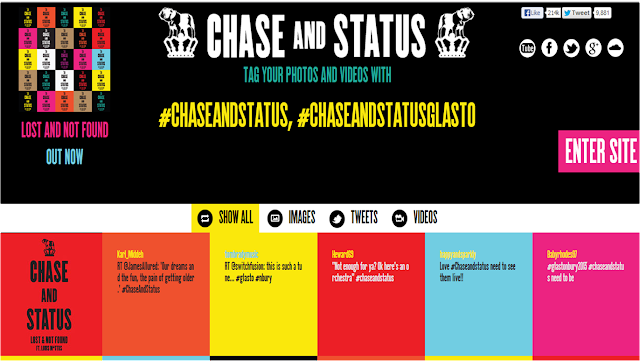 Chase & Status Glastonbury website