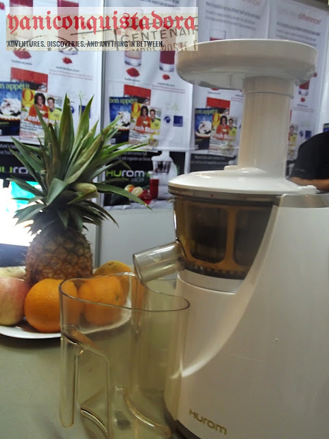 The HUROM Slow Juicer at MAFBEX Cooking Demo