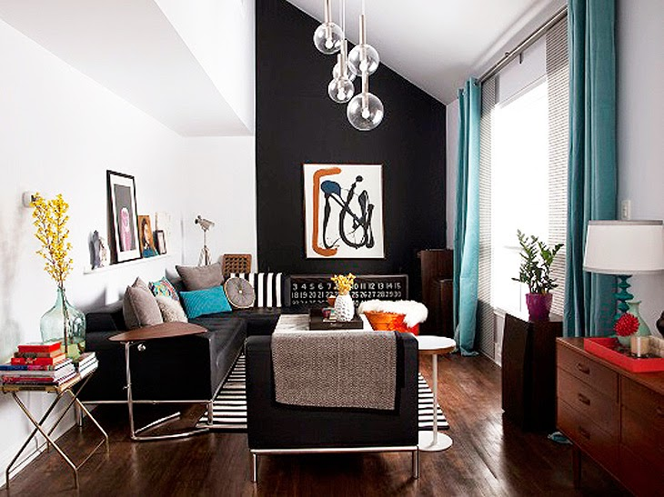 black wall in home