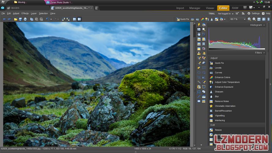 Download Zoner Photo Studio 16 - Foto Editor dengan Fitur Segudang