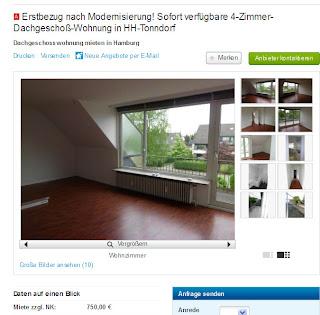 erstbezug nach modernisierung sofort verf gbare 4 zimmer dachgescho wohnung in hh tonndorf. Black Bedroom Furniture Sets. Home Design Ideas