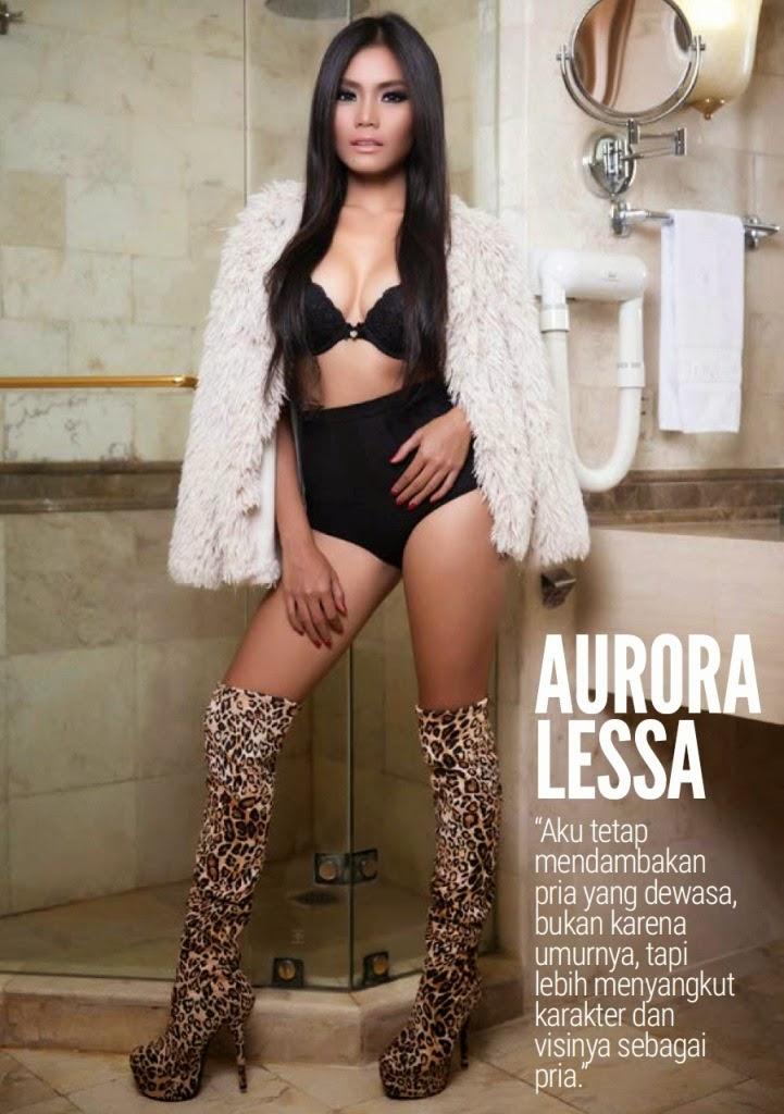 Aurora Lessa On Male Magazine February