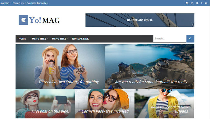 50 best free blogger templates 2017 oddthemes blog magazine style blogger template carefully crafted with keeping news and magazine websites in mind yomag is one of the best free blogger templates pronofoot35fo Choice Image