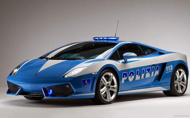 212-Lamborghini Italian Police Car HD Wallpaperz