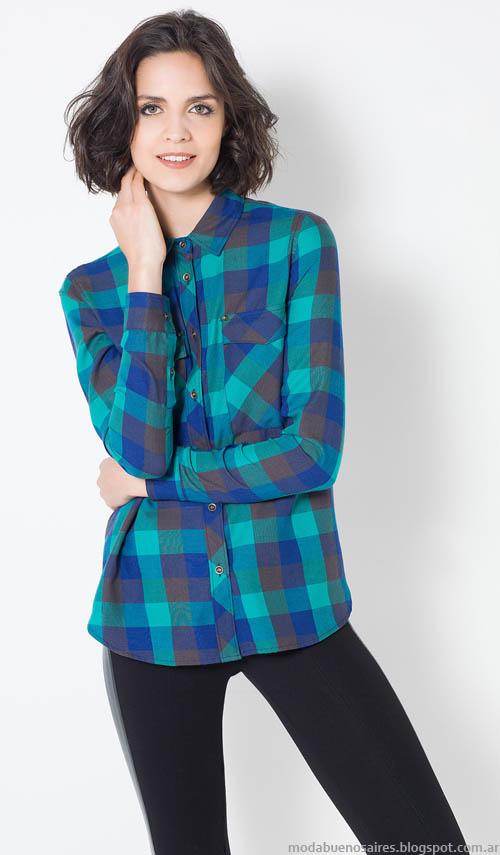 Camisas de mujer a cuadros Yagmour.