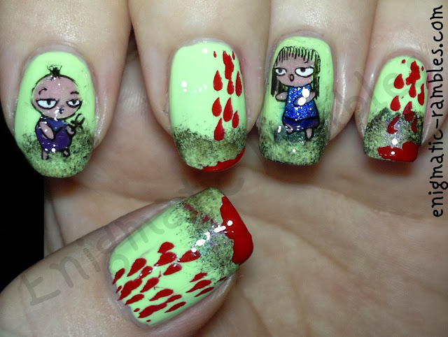zombie-nail-art-nails-B37-eyeko-saucy-w7-metallic-neptune-mars