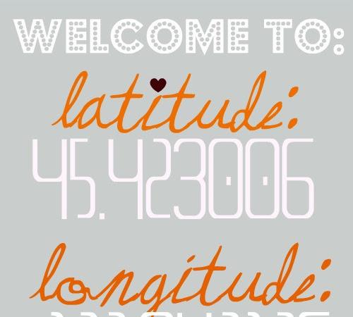 latitude & longitude...