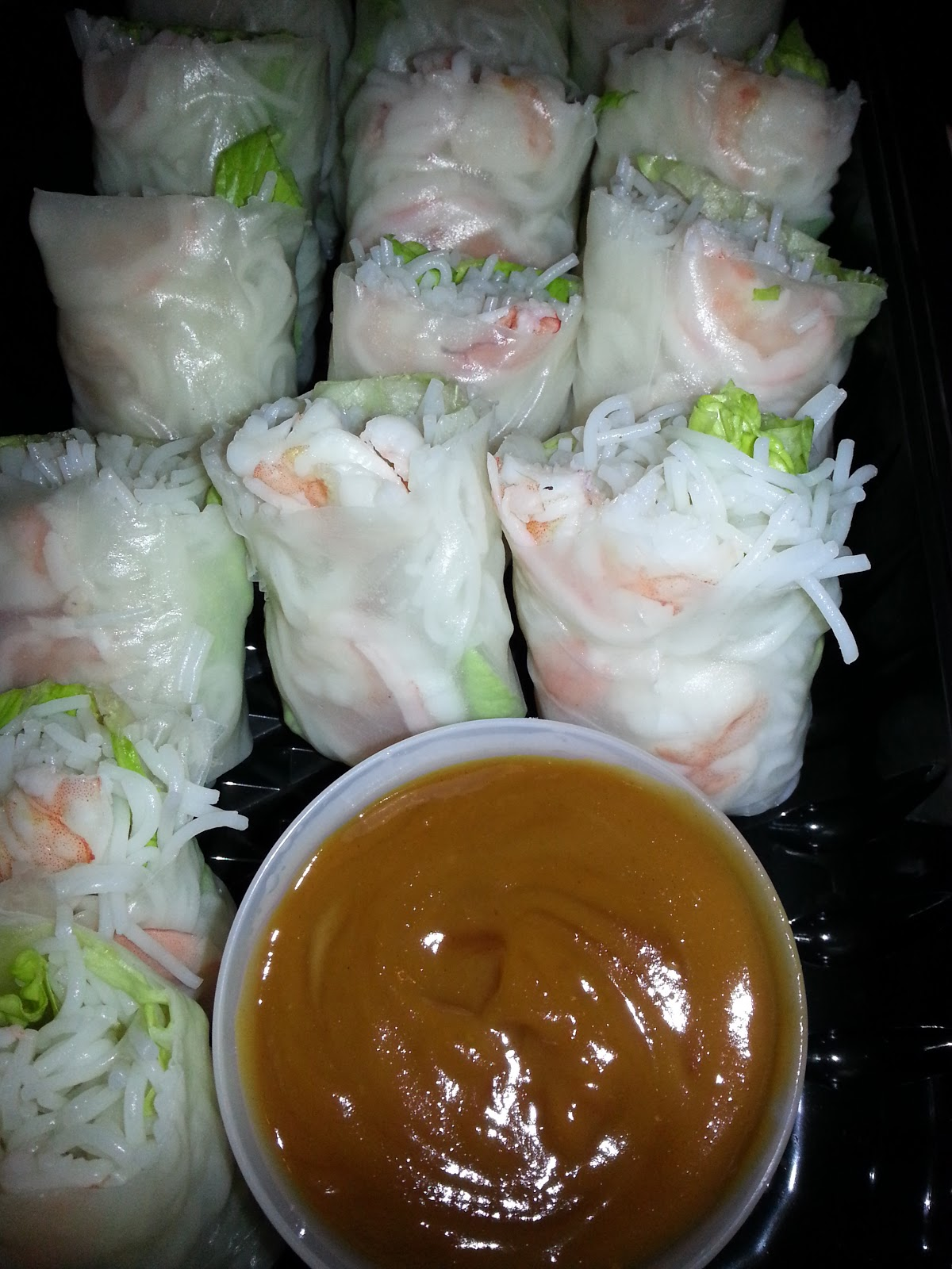 Home Kine Grindz: Summer Rolls with Peanut Dipping Sauce