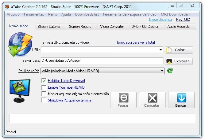Grave a tela do PC e baixe vídeos do Youtube: Atube Catcher tutorial. 2