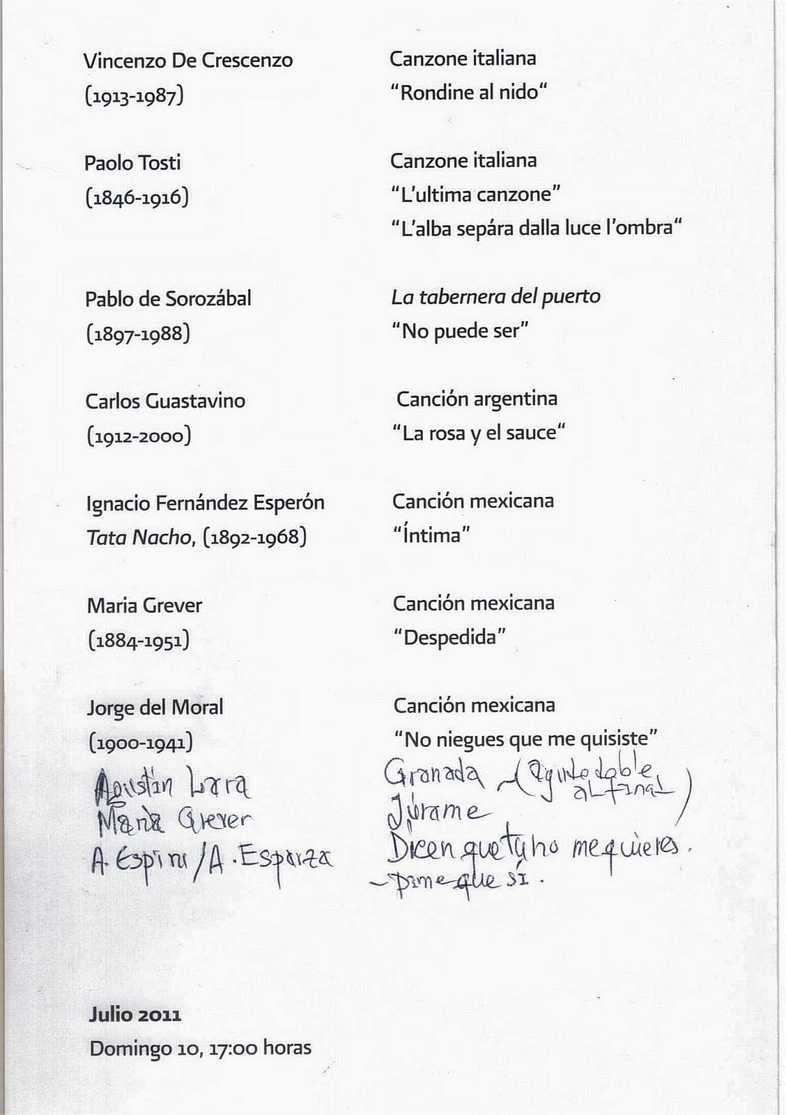 letra de la cancion antologia de: