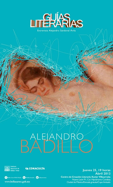 Guías Literarias presenta a Alejandro Badillo en el CCLXV