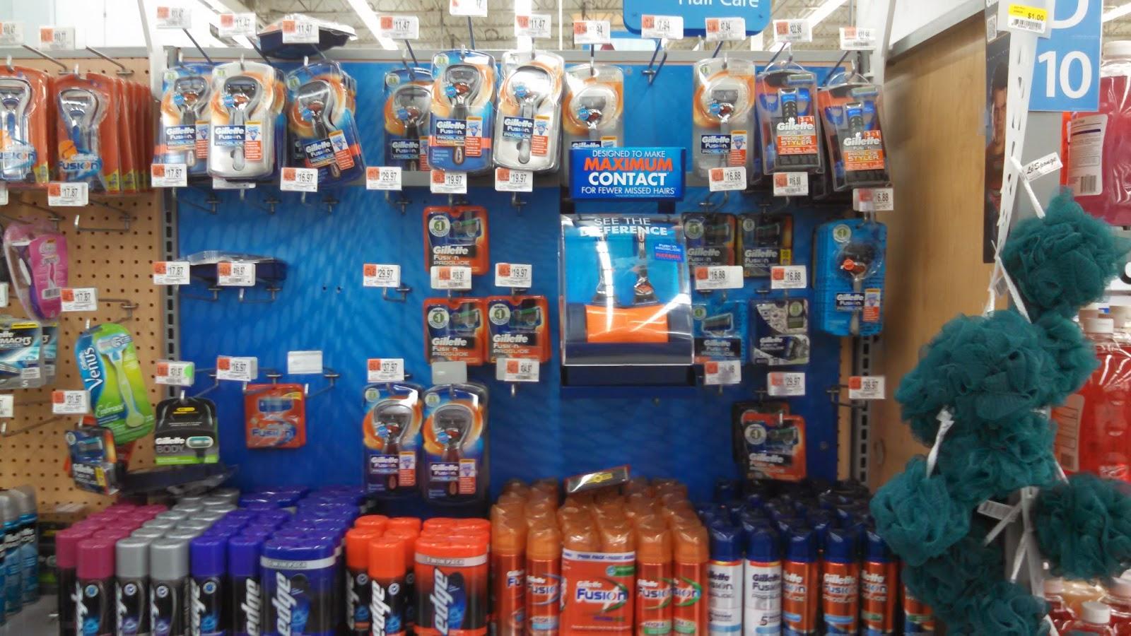 Walmart Shaving Aisle
