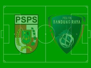 Pertandingan PSPS Pekanbaru vs Pelita Bandung Raya