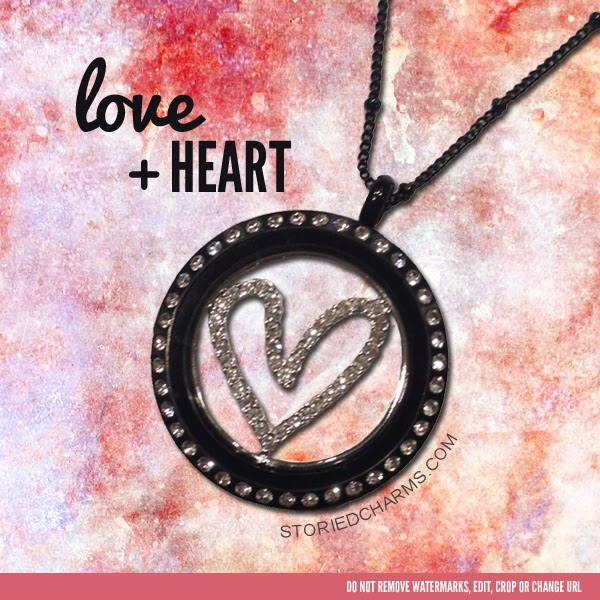 Heart Window Plate in Black Origiami Owl Living Locket | Shop StoriedCharms.com today to create your own!